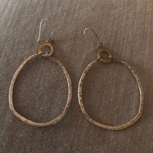 Silpada sterling silver and brass earrings